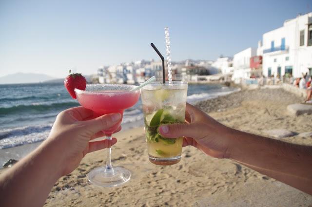 Cocktails at Little Venice Mykonos