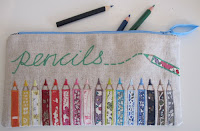 applique colouring pencils pencil case