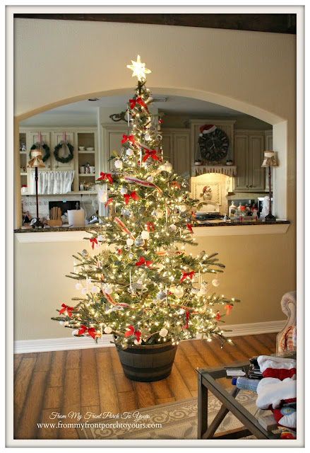 Faux Wood Barrel-Christmas Tree Stand-French Farmhouse-Farmhouse Christmas Tree-From My Front Porch To Yours