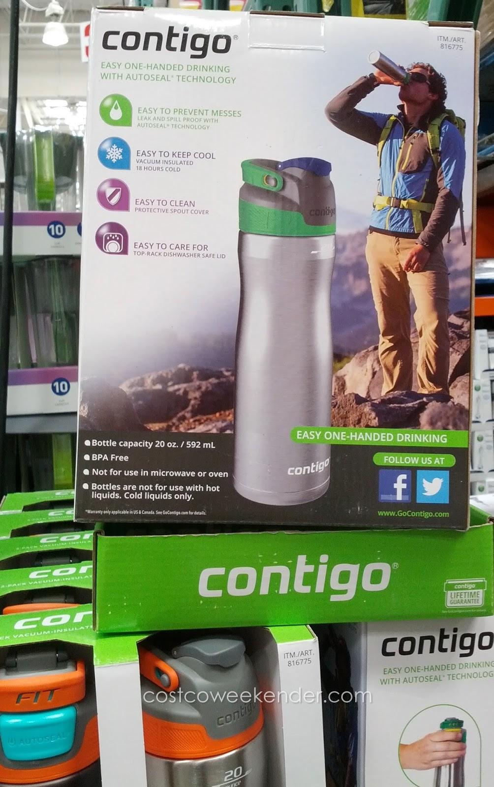Contigo Brazos Stainless Steel Water Bottle (2 pack