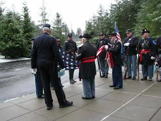 4th US civil war soldier interment, flag
