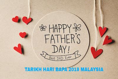 Tarikh Hari Bapa 2018 di Malaysia
