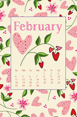 Almost February- free desktop calendar