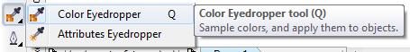 Mengenal bagian CorelDRAW - Color Eyedropper Tool