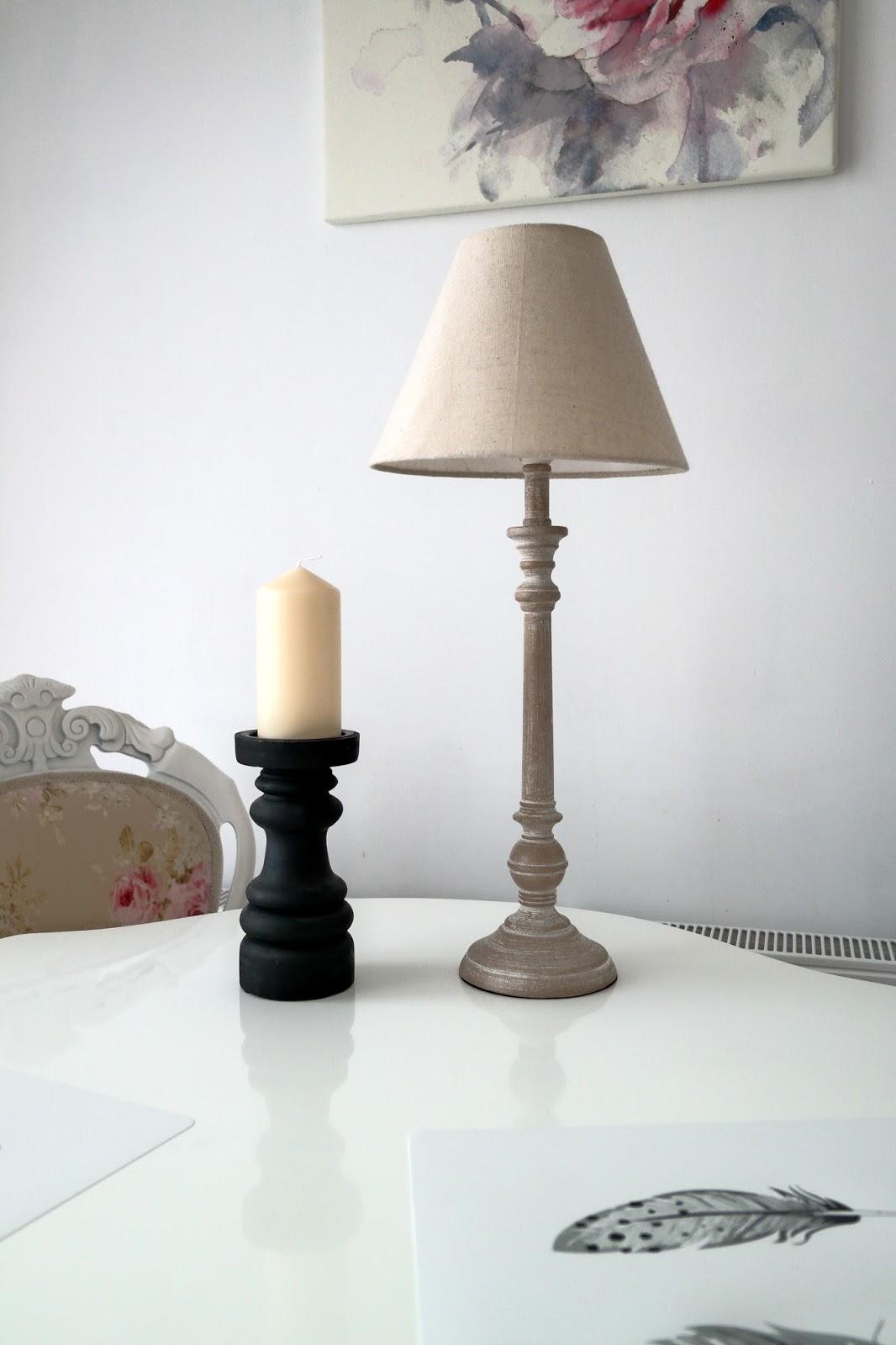 świecznik czarny