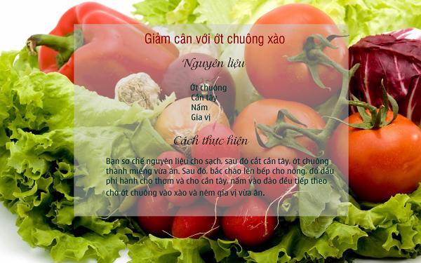 Cách làm Ớt chuông xào giảm cân