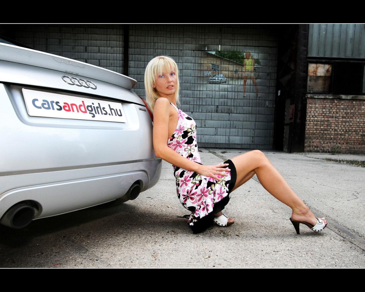 High Adrenalin: car and sexy girl wallpaper