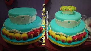 Kue Tart Ulang Tahun 2 Susun