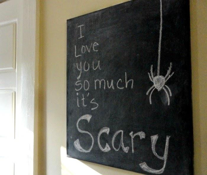 Vintage Show Off Chalkboard Message Ideas For Halloween