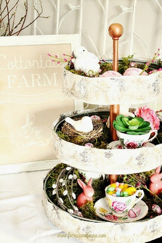 Three Tiered Tray For Spring by Fairies and Fauna