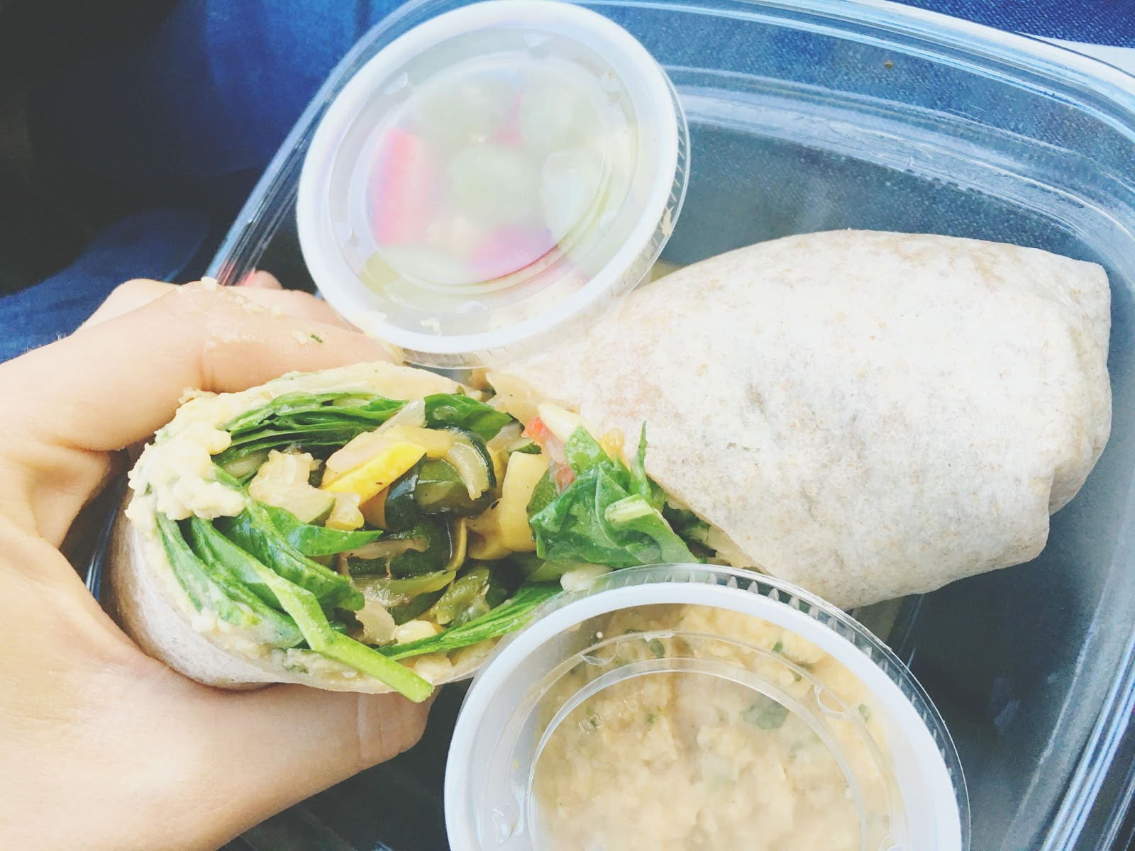 vegetable wrap at H.S. Green - A healthy restaurant in Houston, Texas