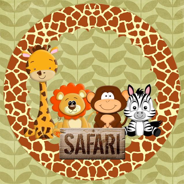 Minhas Coisinhas Festa Personalizada Kit Festa Digital Safari