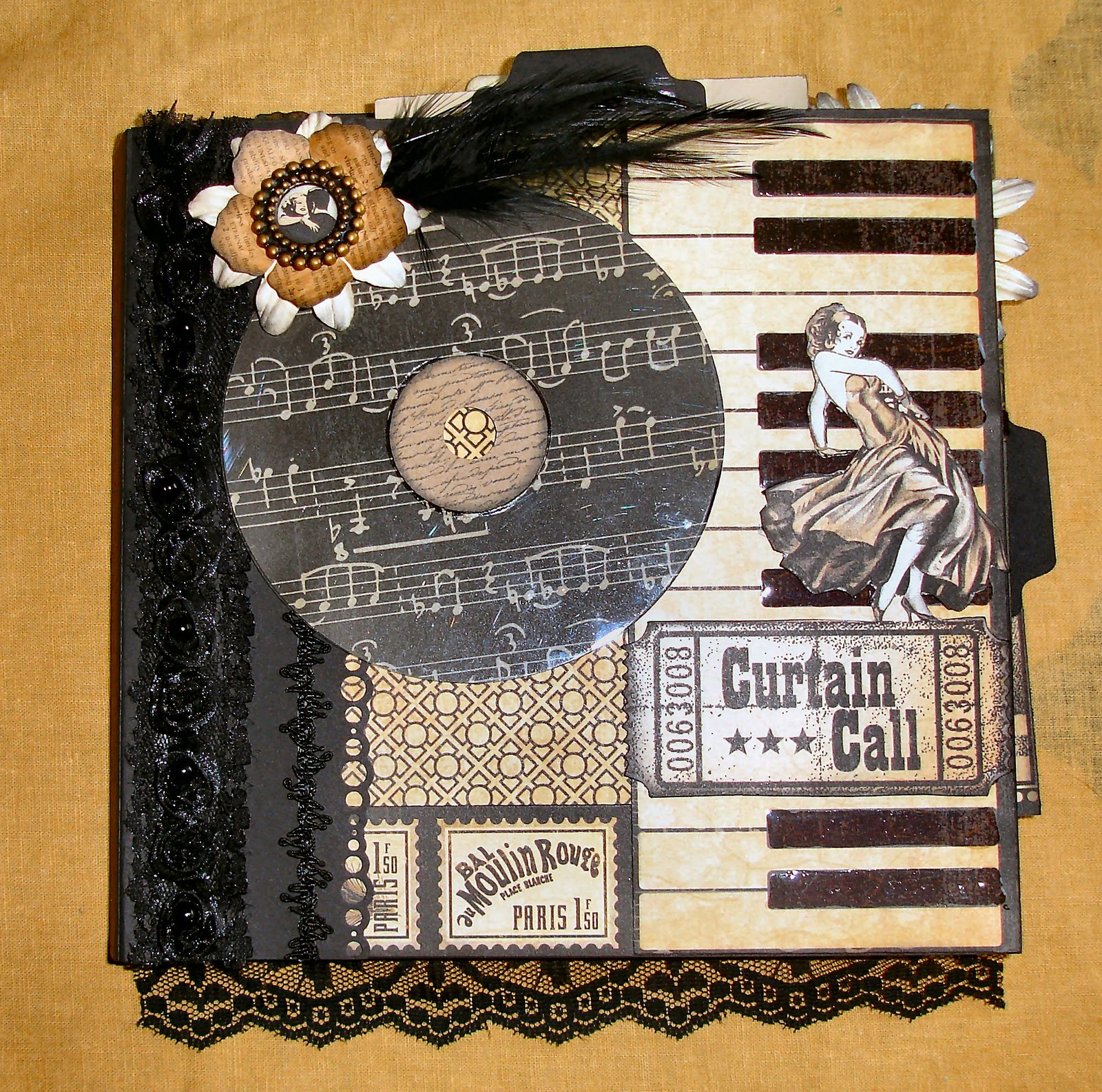 Muddy Footprints: Graphic 45 Curtain Call Mini Album