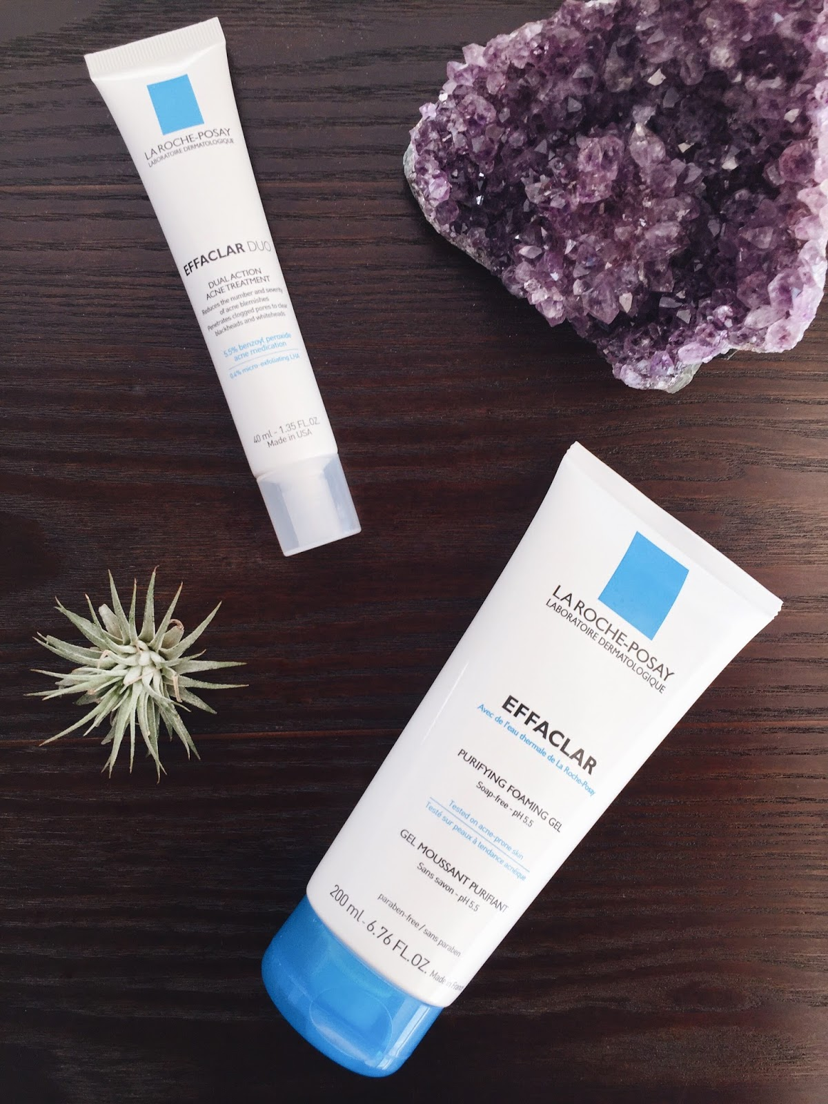 La Roche-Posay Effaclar Duo and Purifying Foaming Gel