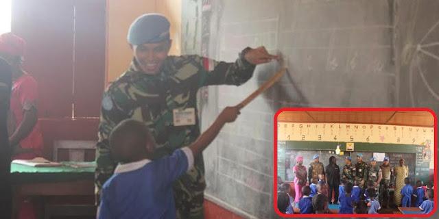 Raih Simpati...! Begini Kisah DANTON TNI Sampai MENGAJAR Di Wilayah Terpencil Afrika Tengah