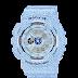 นาฬิกาข้อมูลผู้หญิง CASIO สียีนต์ฟ้า นาฬิกา BABY-G BA-110DC-2A3 สายเรซิน