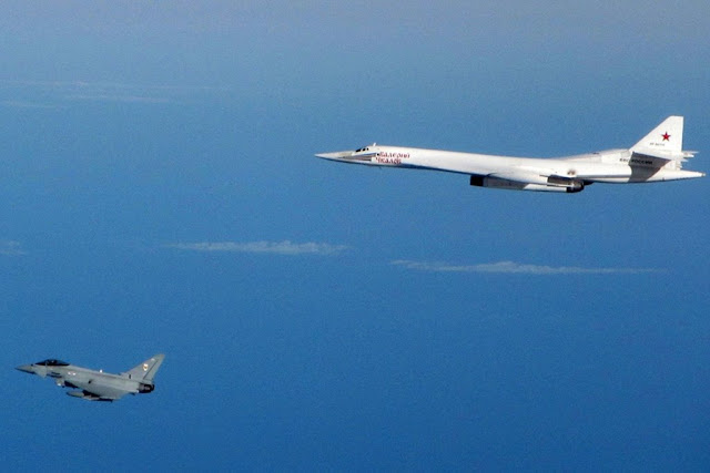 RAF Typhoon intercept russian bomber