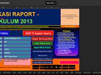 Aplikasi Raport Kurikulum 2013 Mantap
