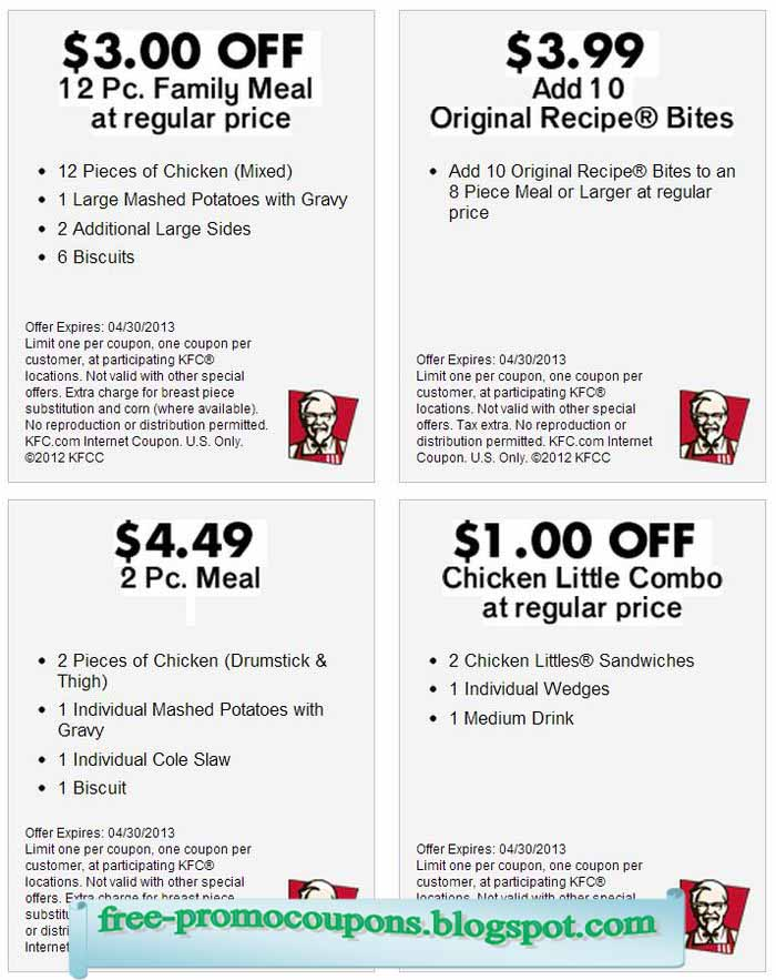 It is a photo of Peaceful Kfc Coupons 2020 Printable