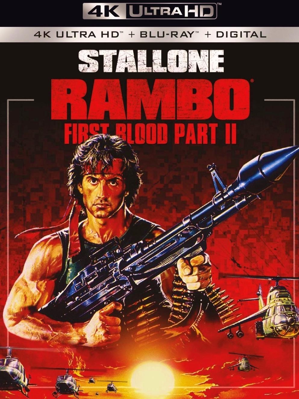 Rambo First Blood Part Ii 4k Blu Ray Carolco 1985 Lionsgate