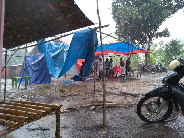 Hujan Disertai Angin Kencang, Satu TPS di Merangin Porak Poranda