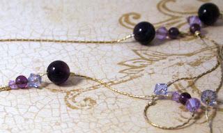 Purple Universe (sterling silver, Swarovski, amethyst) :: All Pretty Thungs