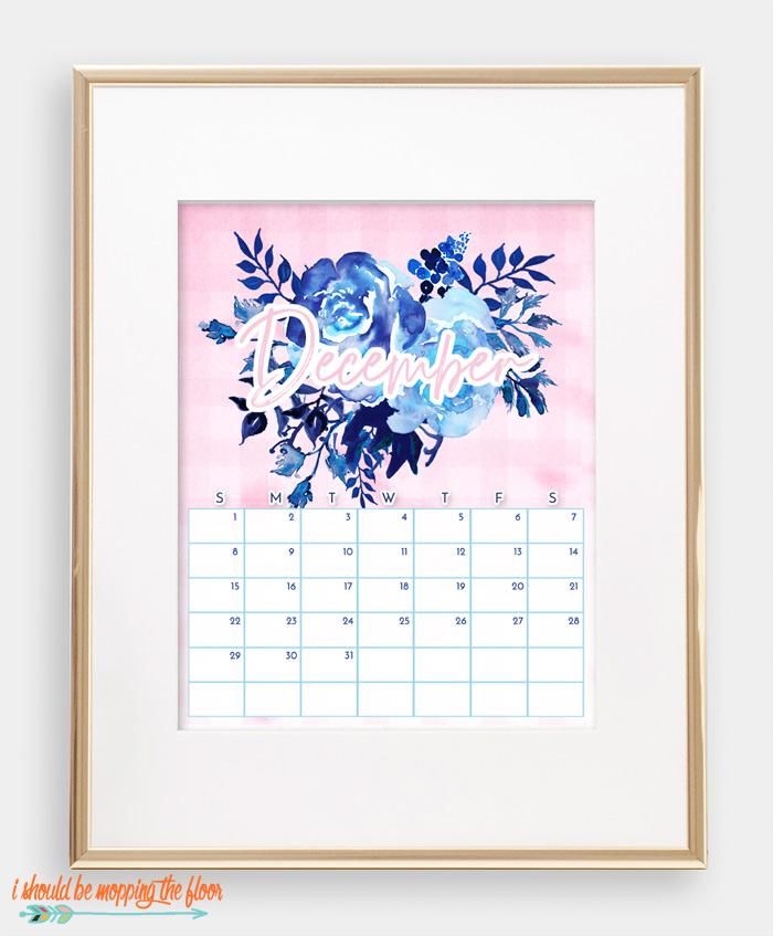 December Chinoiserie Calendar