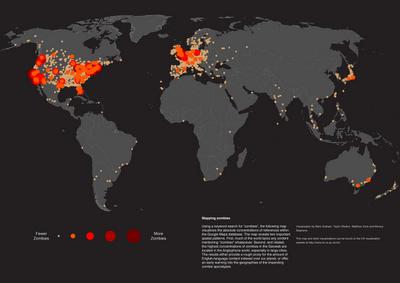 ZOMBIE SHOTS: la cultura Zombie in una mappa mondiale