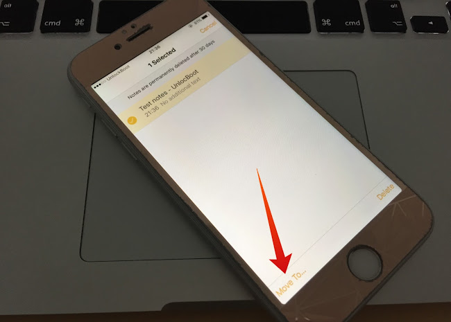 Restore Deleted Notes iPhone