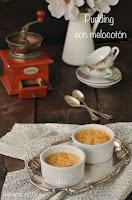 Pudding de melocotón al aroma de vainilla