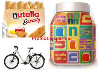 Logo Nutella e Nutella B-Ready: gioca e vinci 21 e-bike Piaggio Wi-bike