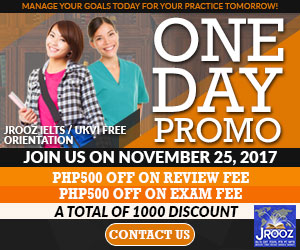 JROOZ FREE IELTS/IELTS UKVI ONE DAY PROMO  Join us on November 25, 2017  Know the basics of IELTS and IELTS UKVI  GET 1000 OFF  Manage Your Goals Today For Your Practice Tomorrow!