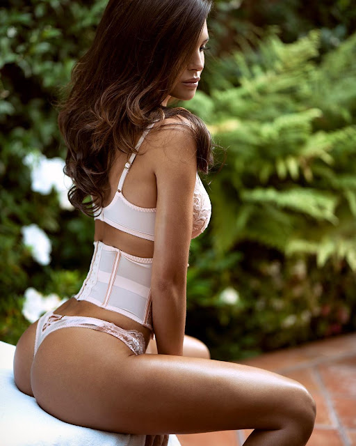 Silvia Caruso Looking Hot in White Lingerie