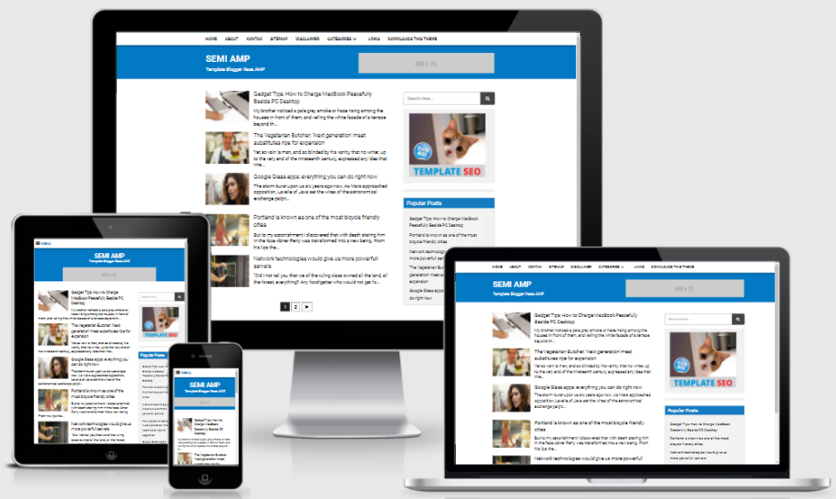 21+ Best Free Valid AMP HTML Blogger Templates - Zona Template