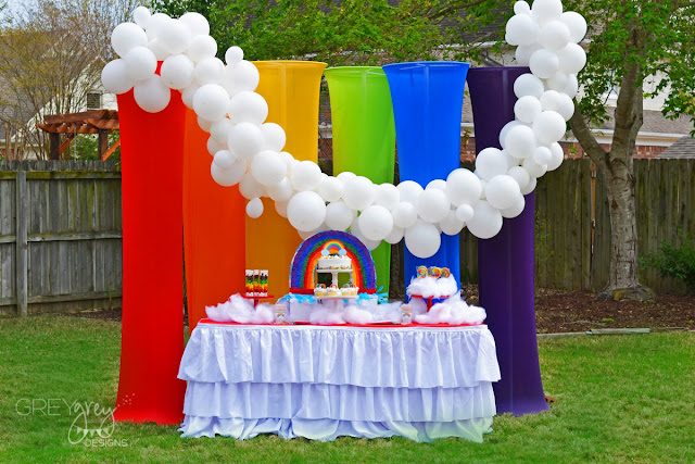 #rainbow #rainbowparty #shindigz #greygreydesigns