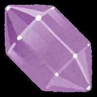 鉱石のイラスト(紫)