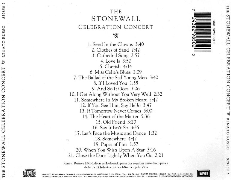 Renato Russo The Stonewall Celebration Concert Rar