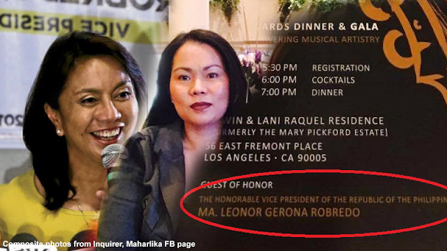 Maharlika reveals Los Angeles event is actually a fund raising for Leni