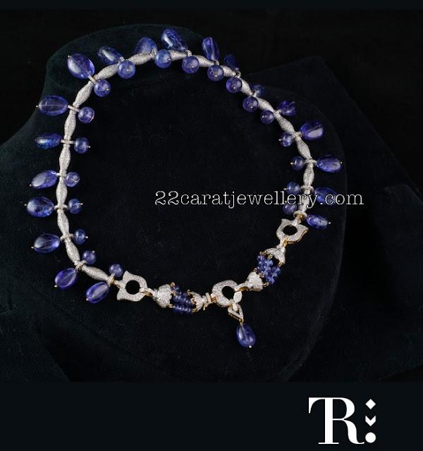 Diamonds Blue Sapphires Choker