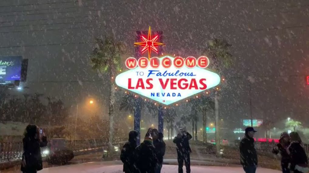 Las Vegas con la Neve per la prima volta dopo 10 anni.
