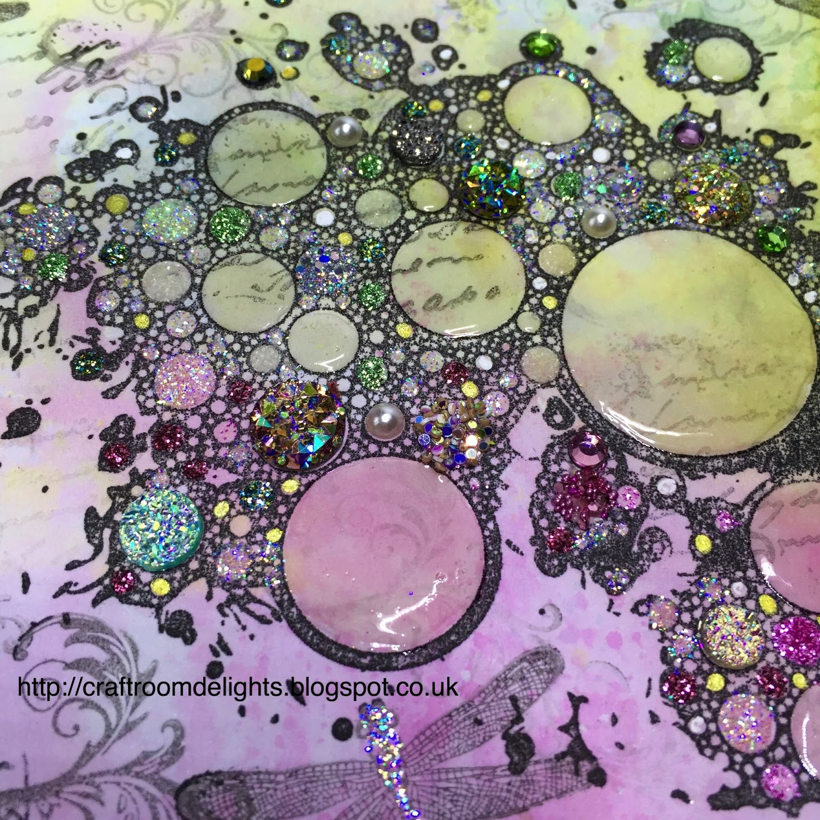 craft ideas with glitter craft room delights by wade indigoblu bubbles 3976