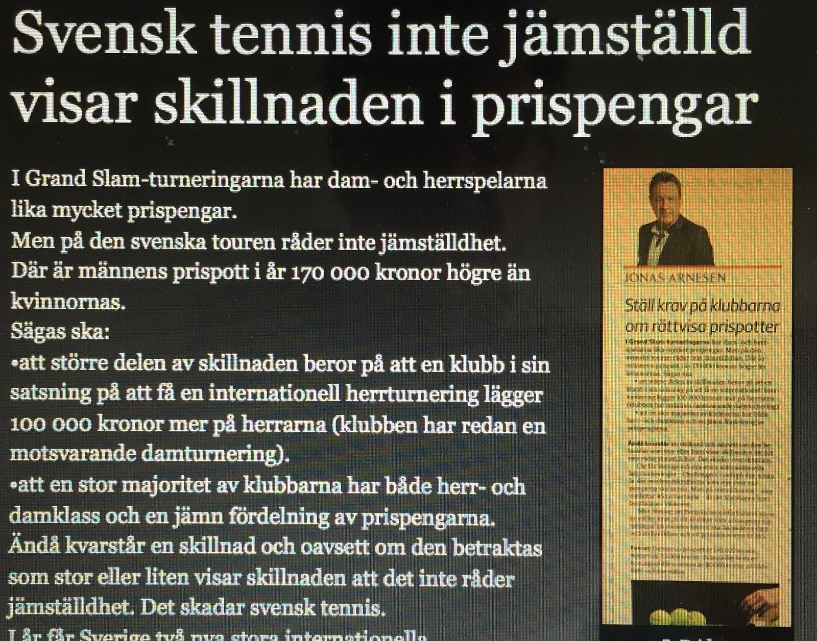 Sponsormiljoner till svensk tennis