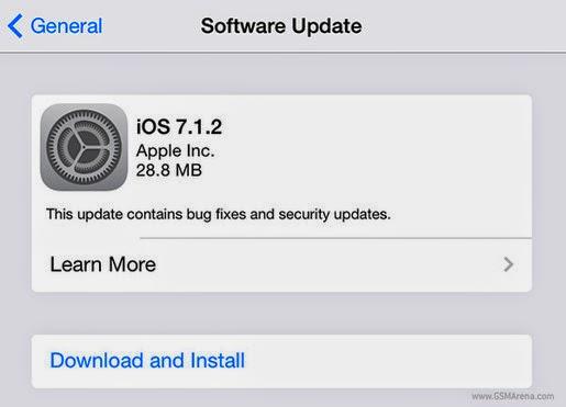 Apple phát hành bản cập nhật iOS 7.1.2 và OS X 10.9.4