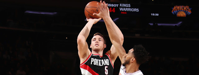 TRAIL BLAZERS HOLD ON VERSUS KNICKS TO FINISH ROAD TRIP WITH A WIN