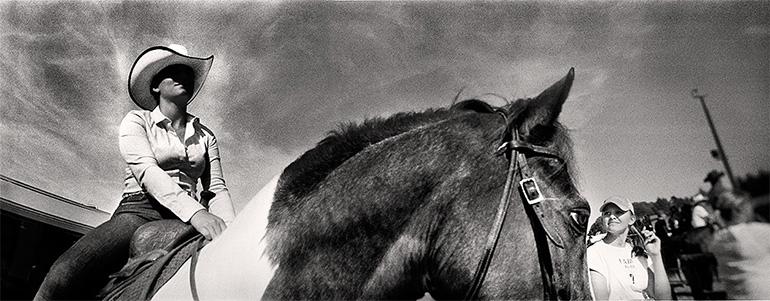 Photographie panoramique de Simon Vansteenwinckel de la série Cowboys et Indiens