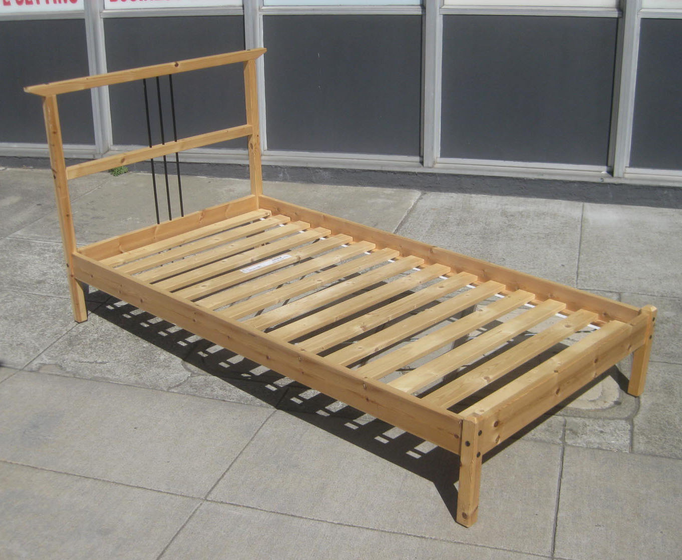 Twin Bed Frame Low Profile Uhuru Furniture And Collectibles Sold Twin Pine Bed Frame