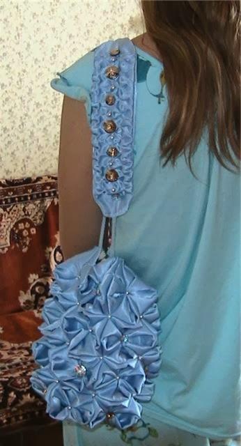 Сумочка в виде голубой гортензии. Мастер-класс | Handbag blue hydrangeas