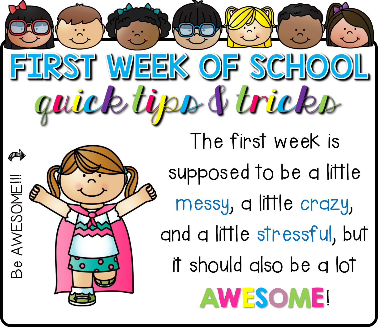Read Like A Rock Star! : First Week of School: Quick Tips ...