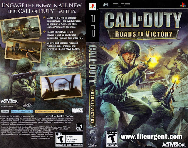 Call of Duty Roads to Victory PSP Game Free