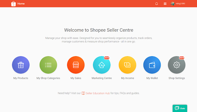 Welcome to Shopee Seller Centre (desktop)
